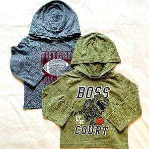 12-18m 2 pack hoodie tees toddler boy